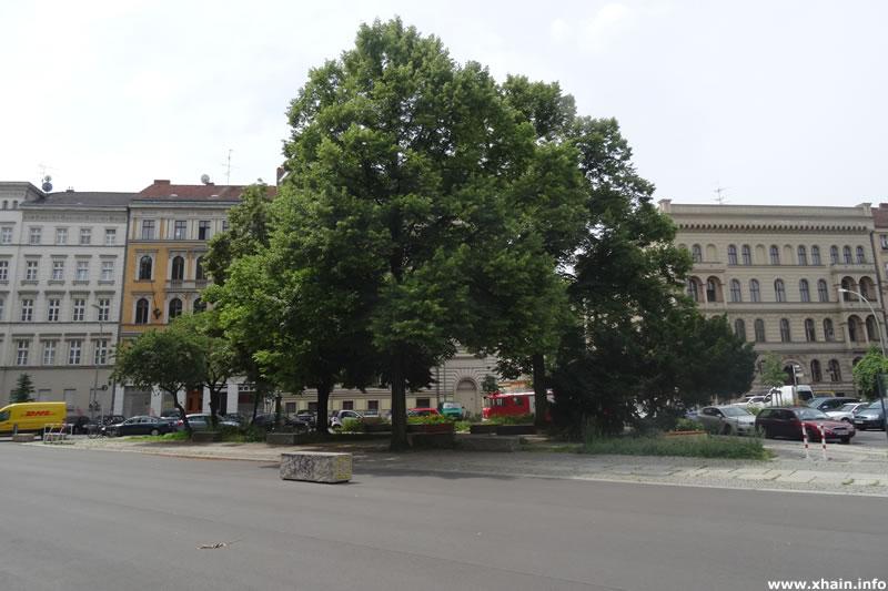 Alfred-Döblin-Platz an der Dresdnener Straße