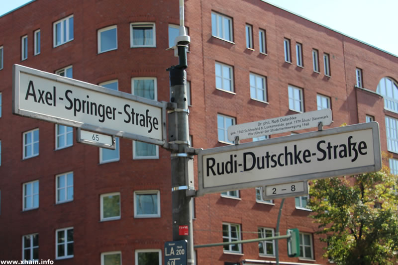 Axel-Springer-Straße Ecke Rudi-Dutschke-Straße