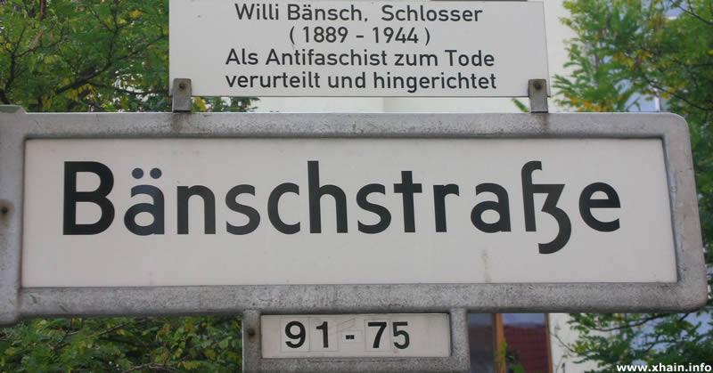 Bänschstraße