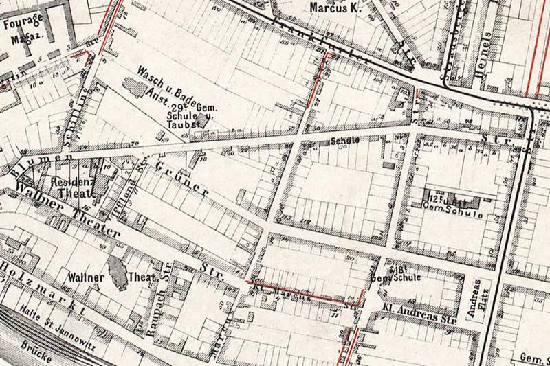 Historischer Verlauf der Blumenstraße