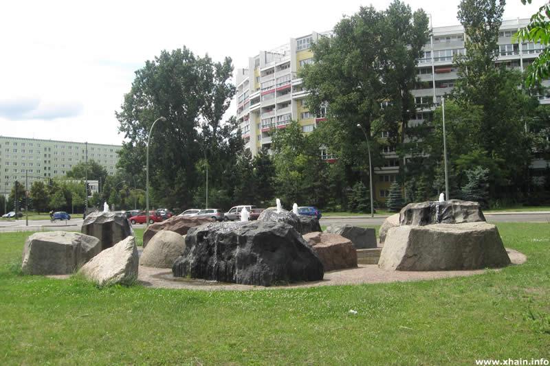 Brunnen am Platz der Vereinten Nationen