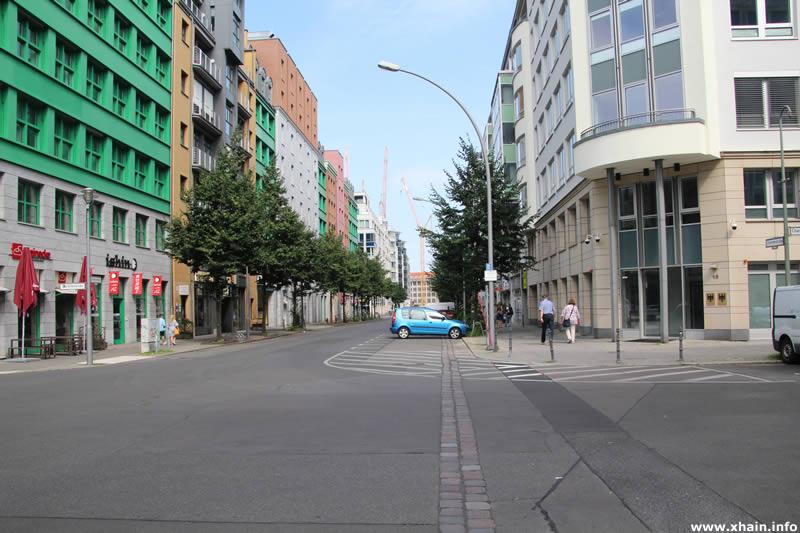 Mauerverlauf Charlottenstraße Ecke Zimmerstraße