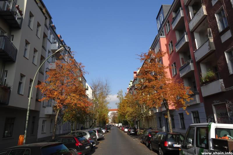 Dirschauer Straße, Blickrichtung Simplonstraße