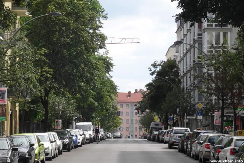 Ebertystraße, Blickrichtung Thaerstraße