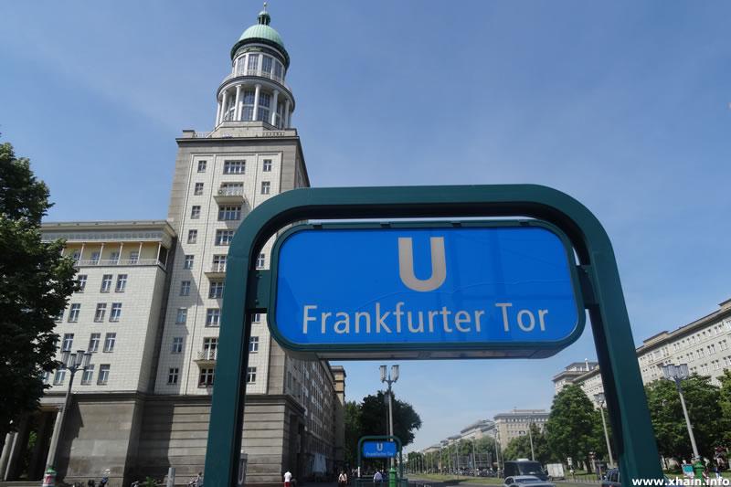 Frankfurter Tor, Südturm - U-Bahnhof