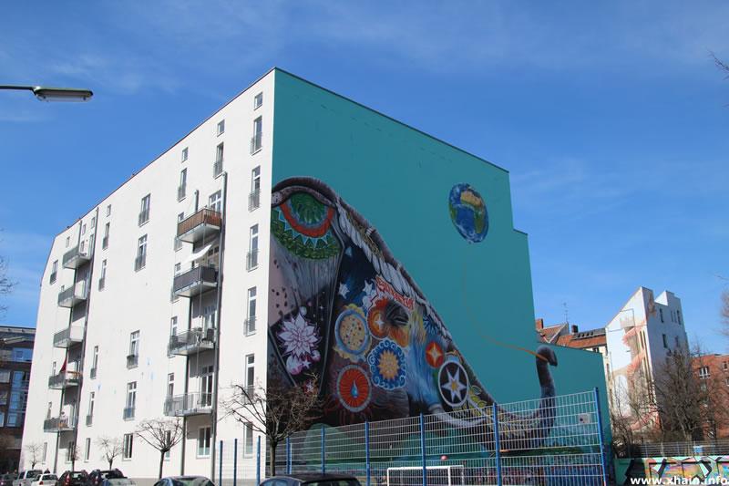 Wandbild Franz-Klühs-Straße - Jadore Tong
