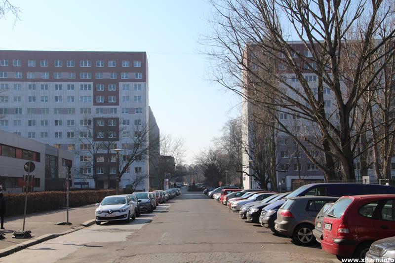 Fredersdorfer Straße, Blickrichtung Rüdersdorfer Straße