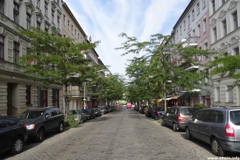 Friesenstraße, Blickrichtung Bergmannstraße / Marheinekeplatz