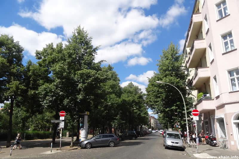 Gärtnerstraße am Boxhagener Platz (Einbahnstraße)