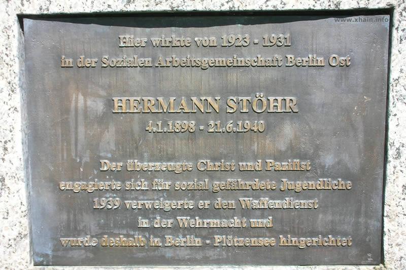 Gedenktafel für Hermann Stöhr