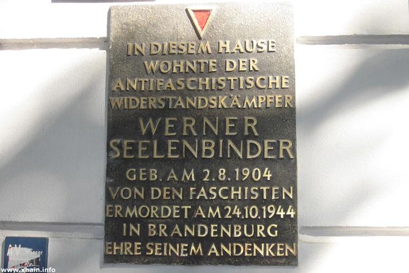 Gedenktafel für Werner Seelenbinder