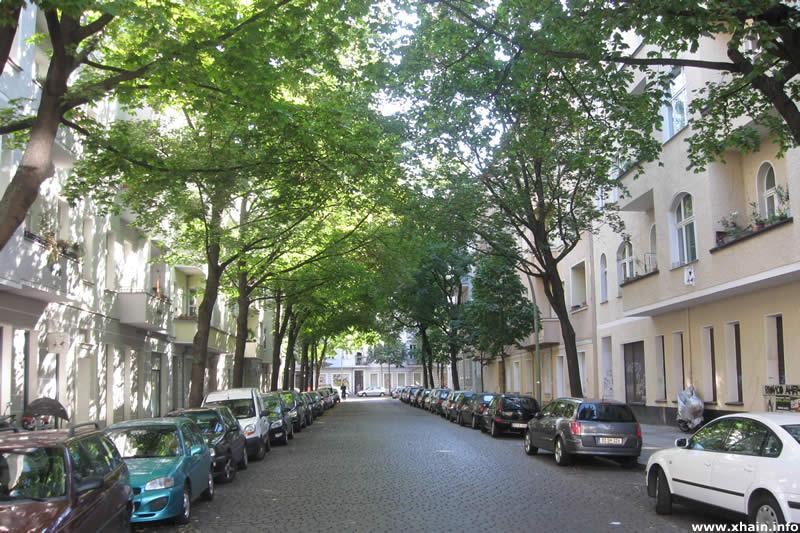 Glatzer Straße, Blickrichtung Weserstraße