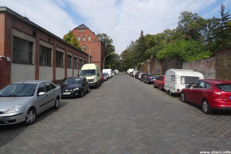 Golßener Straße, Blickrichtung Jüterboger Straße