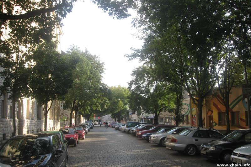 Gryphiusstraße, Blickrichtung Simplonstraße