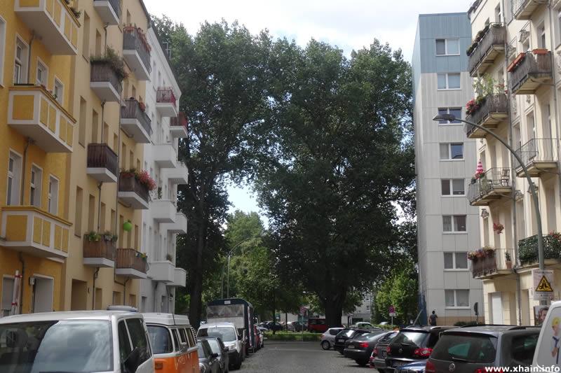Heidenfeldstraße, Blickrichtung Petersburger Straße