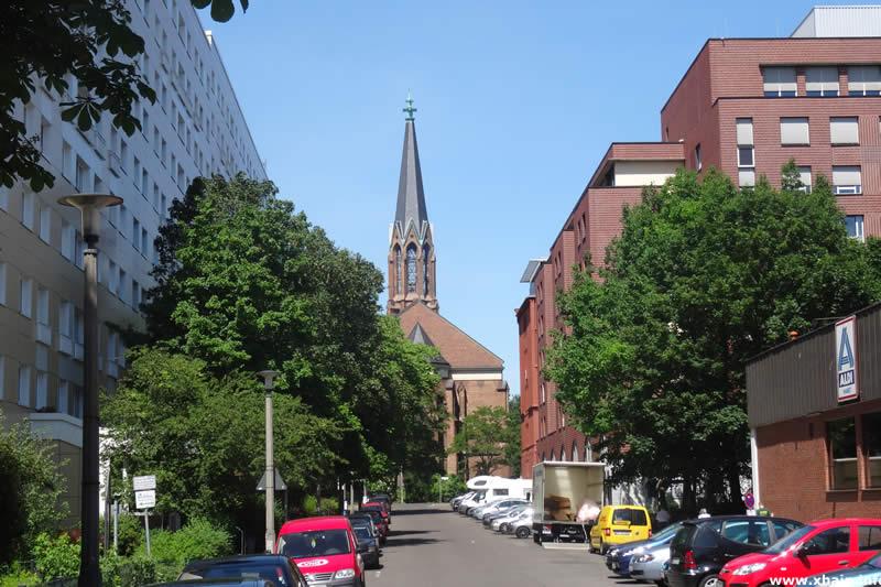 Höchste Straße, Blickrichtung St. Bartholomäuskirche