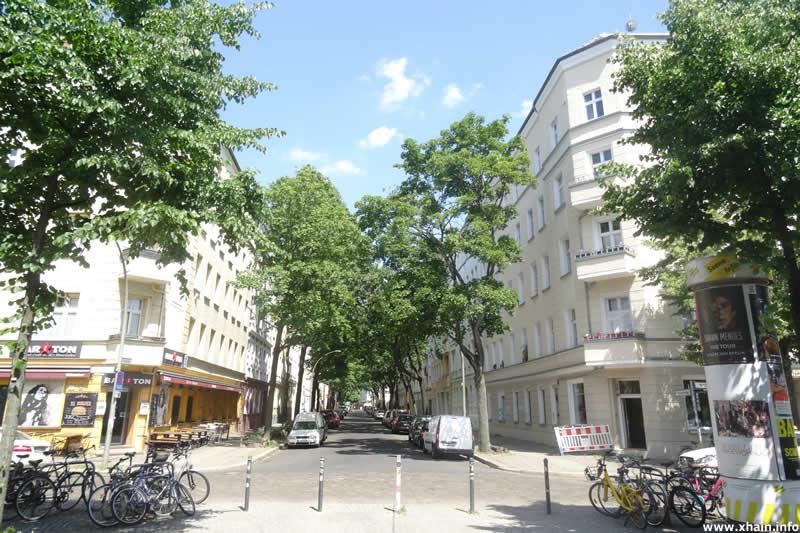 Kinzigstraße, Ecke Weserstraße