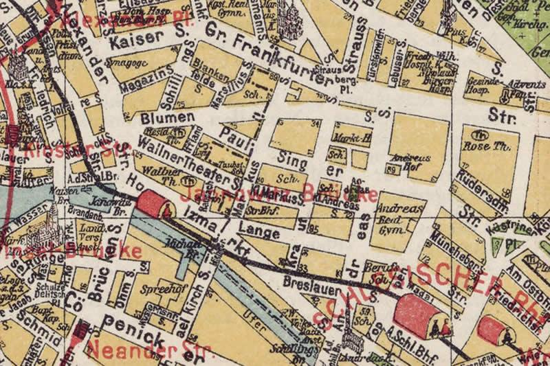 Kleine Markusstraße, historischer Verlauf