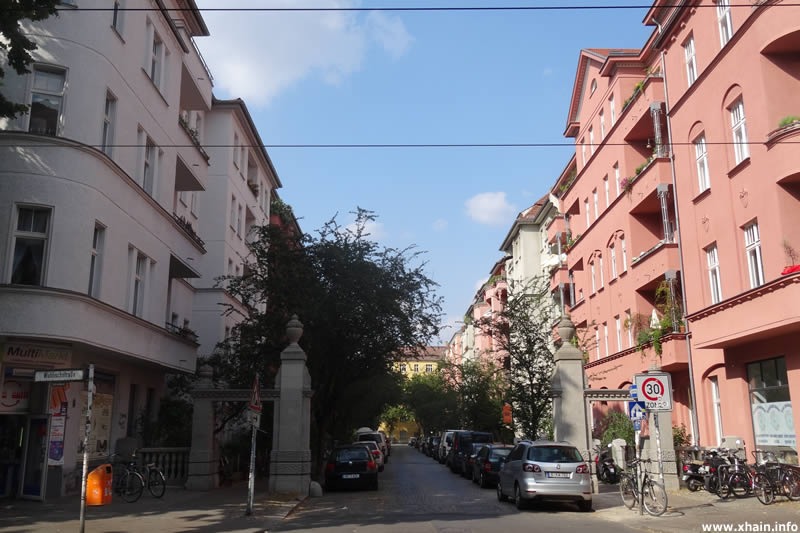 Knorrpromenade, Ecke Wühlischstraße