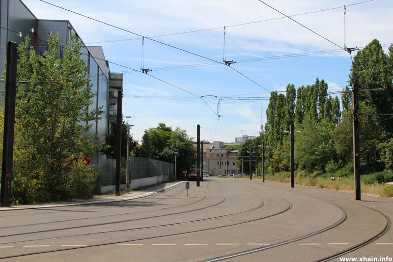 Tramkehre in der Langenbeckstraße