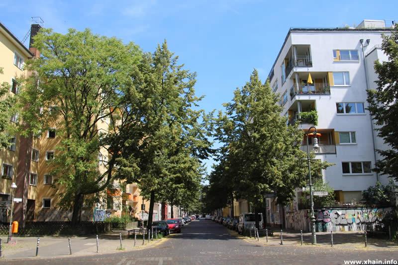 Lausitzer Straße Ecke Reichenberger Straße, Blickrichtung Wiener Straße