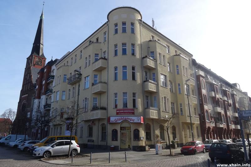 Lehmbruckstraße Ecke Rudolfstraße (Kneipe Glühlampe)
