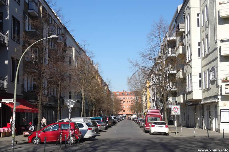 Libauer Straße, Blickrichtung Kopernikusstraße