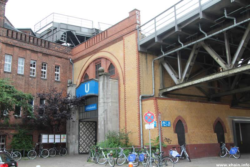 U-Bahnhof Gleisdreieck in der Luckenwalder Straße