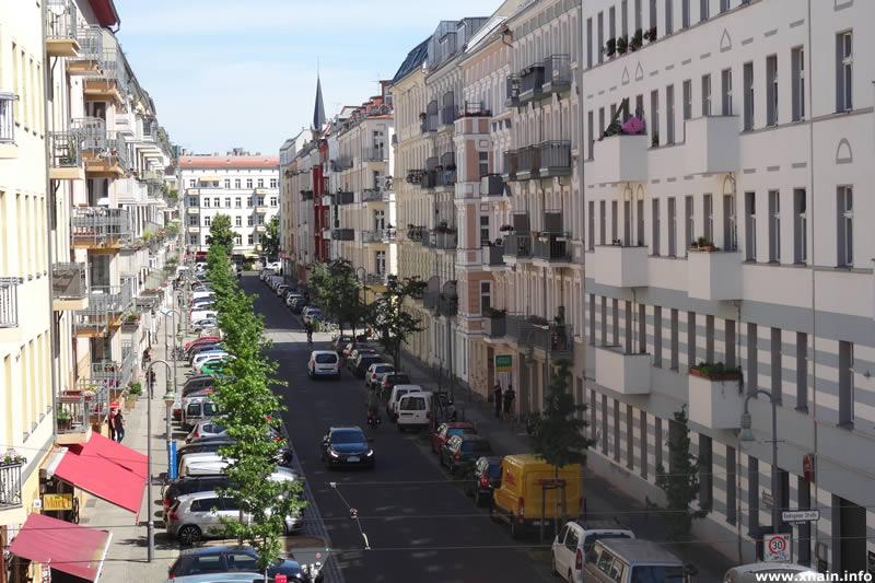 Mainzer Straße, Blickrichtung Frankfurter Allee