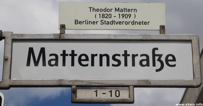 Matternstraße