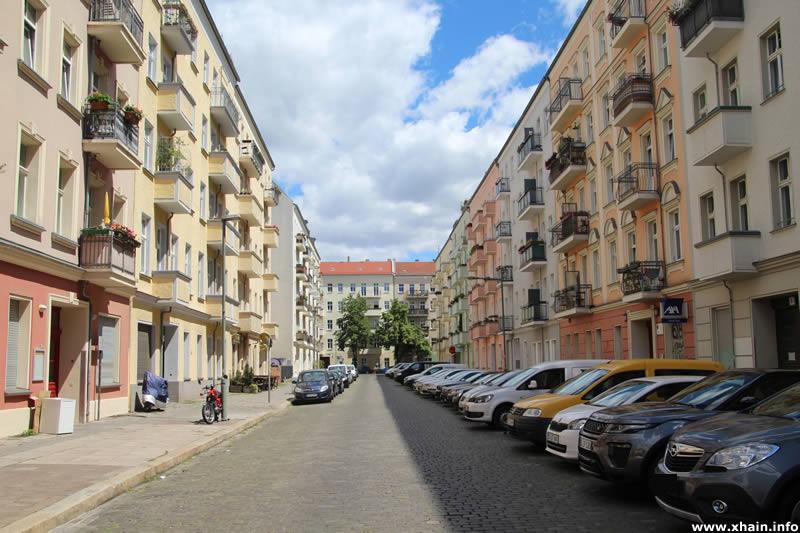 Matternstraße, Blickrichtung Ebertystraße