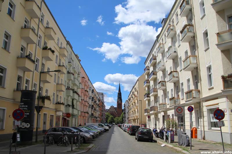 Matternstraße, Blickrichtung Pfingstkirche