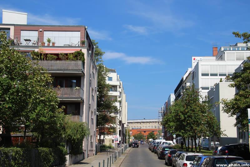 Matthiasstraße, Blickrichtung Landsberger Allee