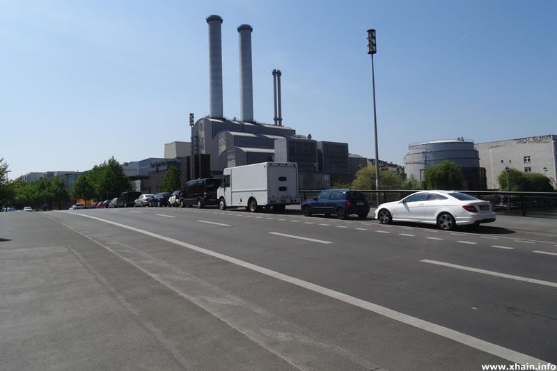 Michaelbrücke, Blickrichtung Heizkraftwerk Mitte