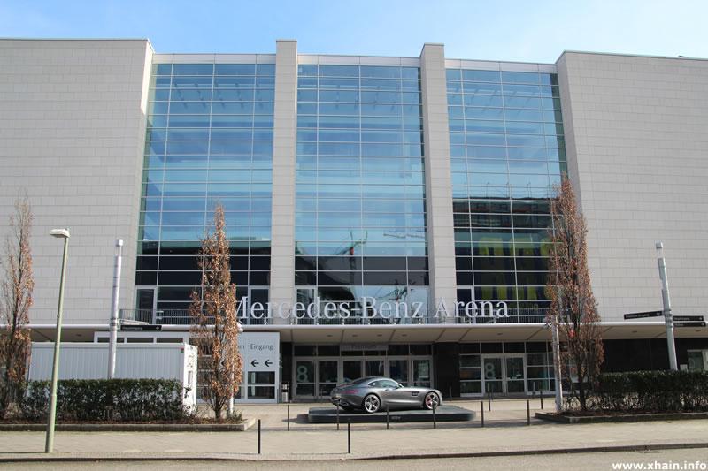 Premium-Eingang der Mercedes-Benz Arena
