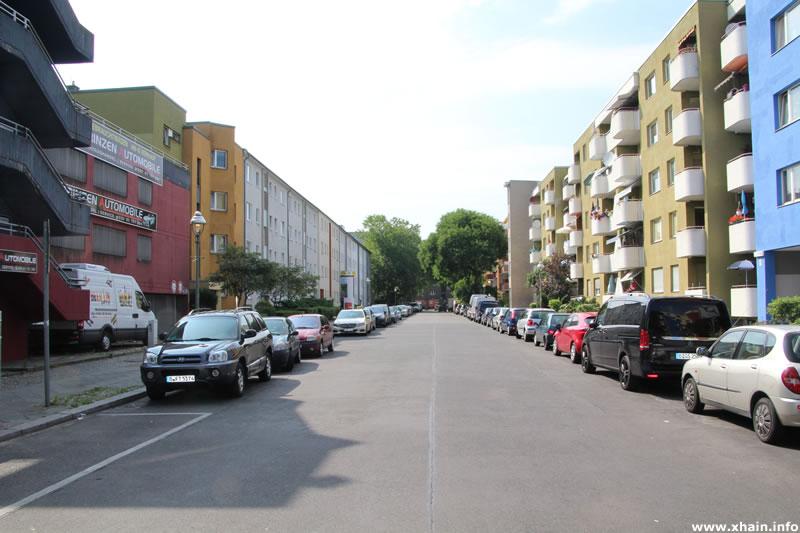 Moritzstraße, Blickrichtung Lobeckstraße