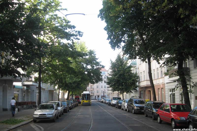 Straßenbahn in der Müggelstraße