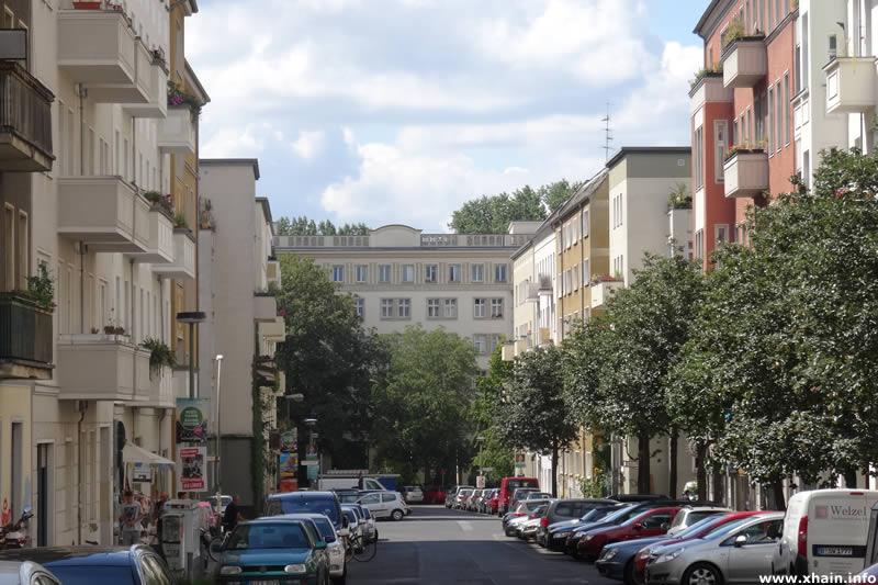 Mühsamstraße, Blickrichtung Löwestraße
