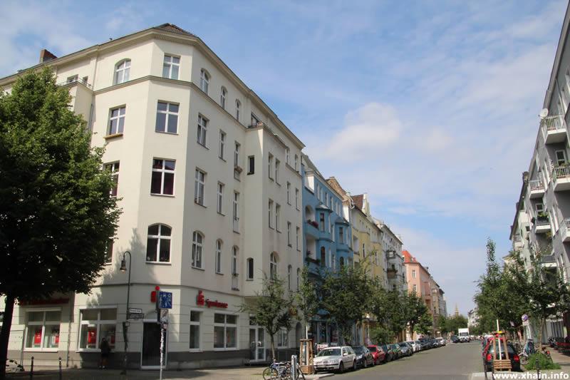 Muskauer Straße Ecke Eisenbahnstraße (Sparkasse)