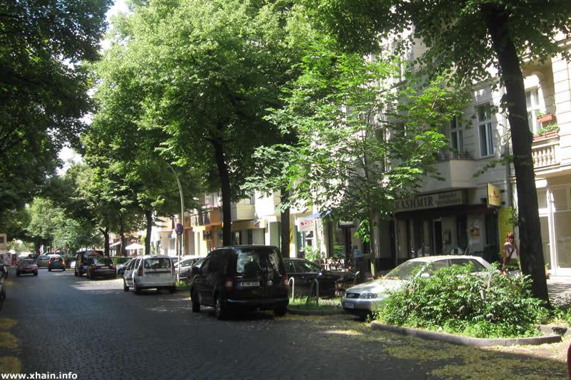 Niederbarnimstraße, Blickrichtung Boxhagener Straße