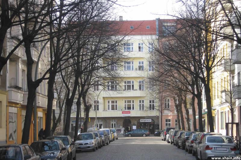 Oderstraße, Blickrichtung Jungstraße
