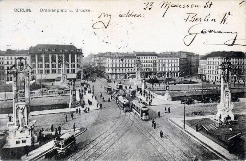 Oranienbrücke am Oranienplatz um 1910