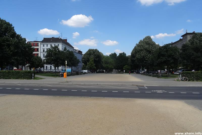 Oranienplatz, Blickrichtung Norden
