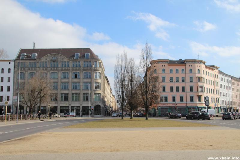 Oranienplatz, Blickrichtung Osten
