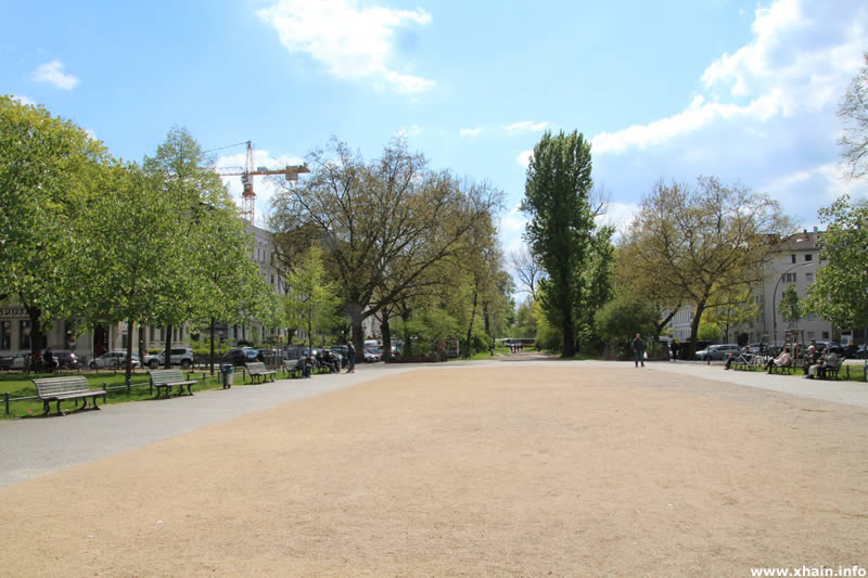 Oranienplatz, Blickrichtung Süden