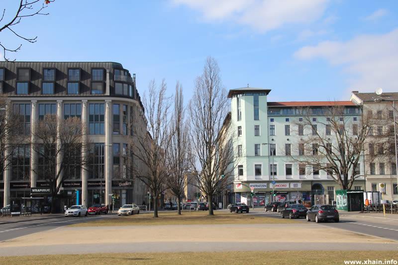 Oranienplatz, Blickrichtung Westen