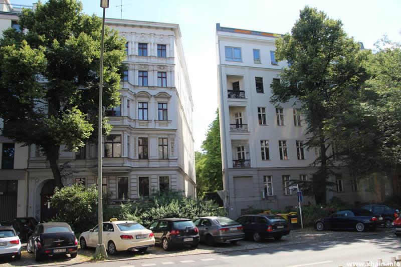 Blick in die Kleine Parkstraße aus Richtung Kreuzbergstraße