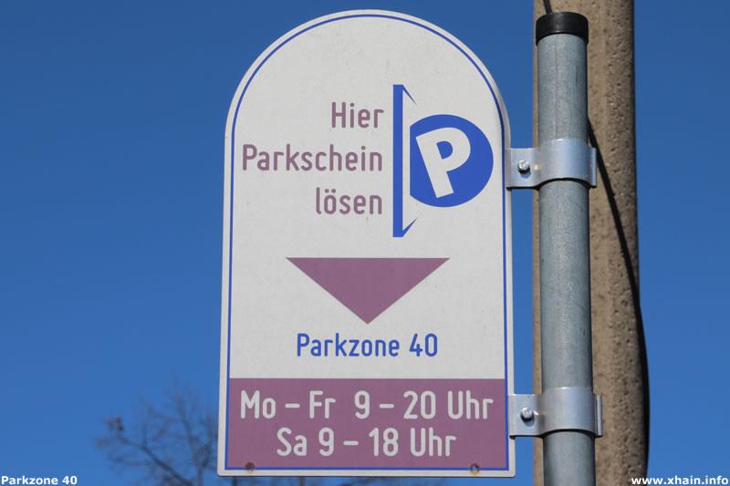 Parkzone 40 im Berliner Stadtteil Friedrichshain
