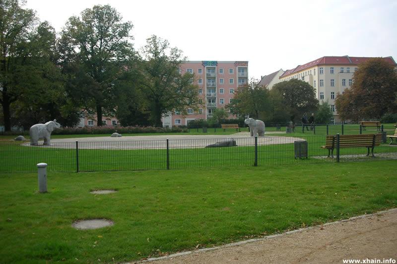 Plansche auf dem Forckenbeckplatz