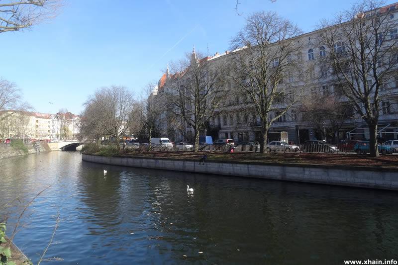 Planufer, Blickrichtung Kottbusser Brücke